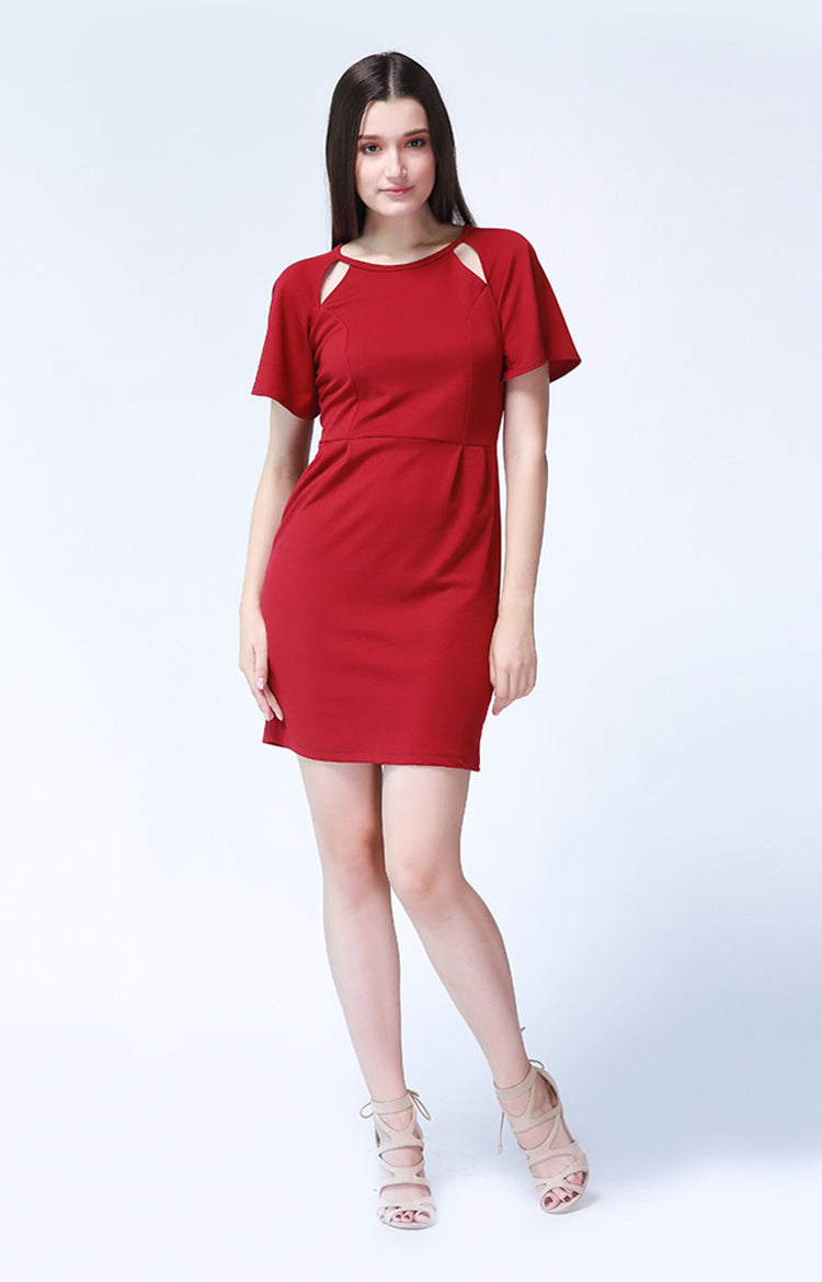 Adrienne Dress in Red