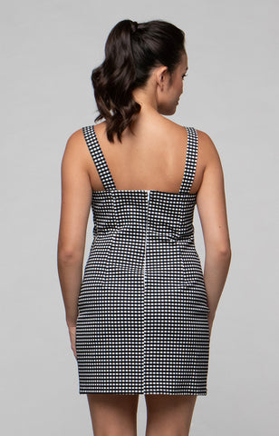 The Classic Peach Dress in Chess