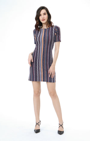 Essie Short Sleeve Boat Neck Dress