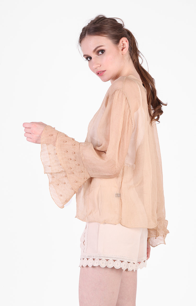 Pippa Blouse in Nude