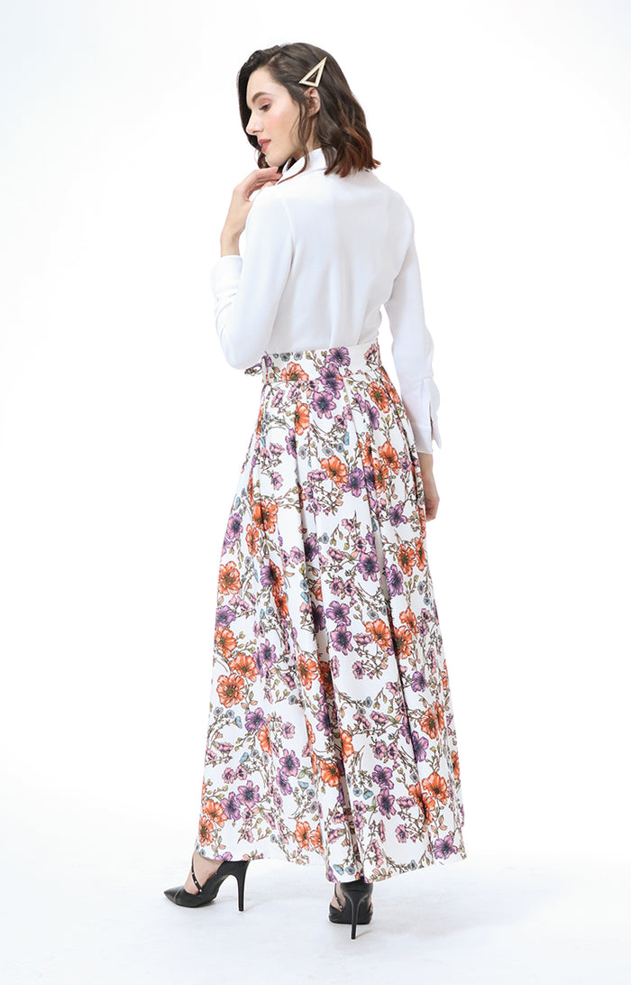 Anastasia Button Up Top and Maxi Skirt Set