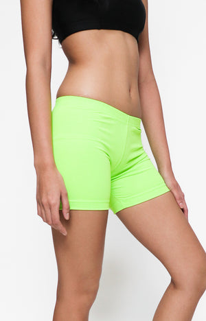 "Womanly Ladies Compression Shorts 7"" Green"