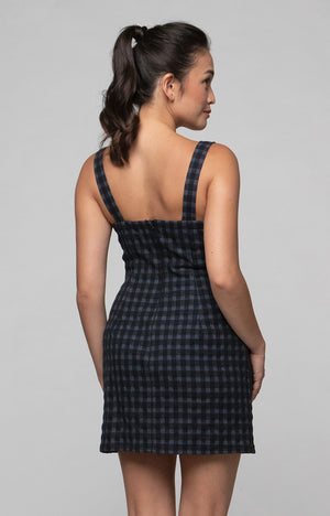 Classic Slip Dress in Grey Checks