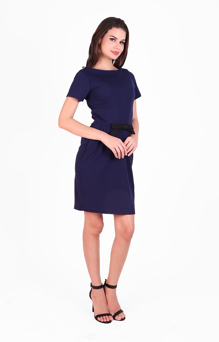 Audrey Dress in Navy Blue