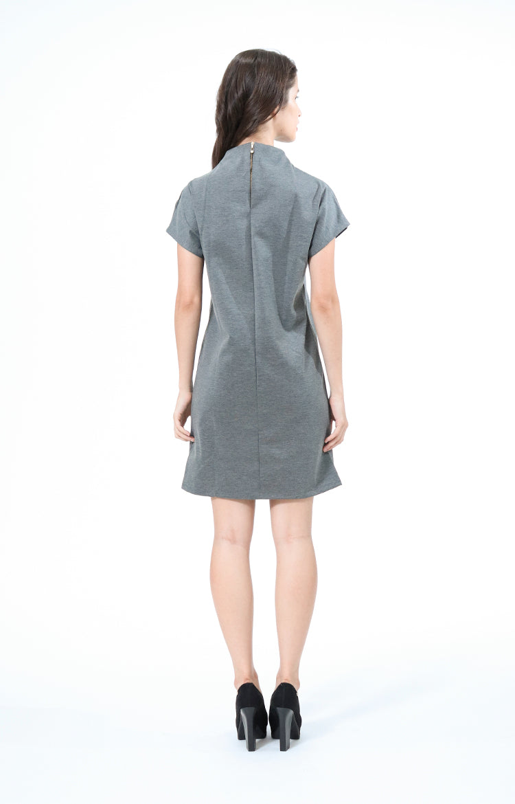 Kathrine Gray High Neck Dress