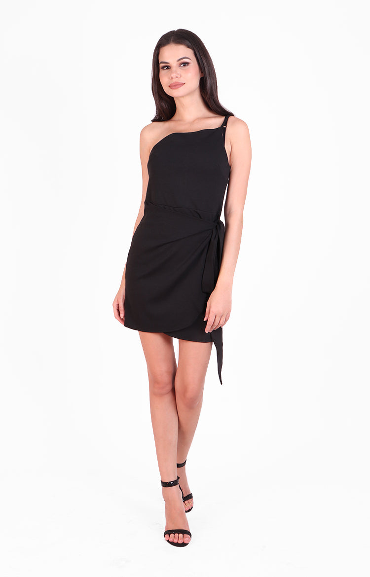 Ivana Party Dress in Black