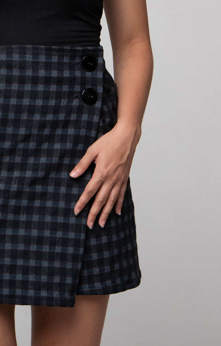 Mini Skirt in Grey Checks