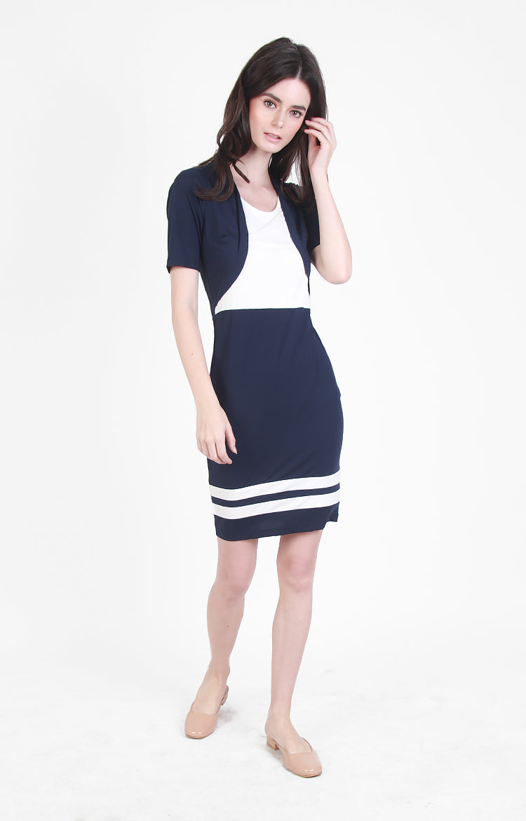 Chicago Dress in Navy