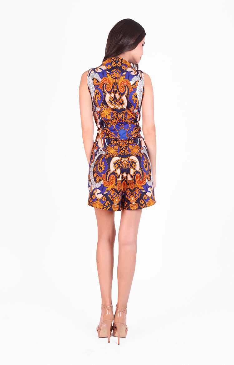 Alexia Playsuit in Multi Print