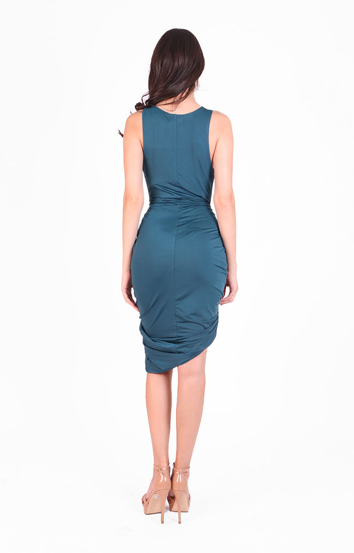Halle Dress in Turquoise