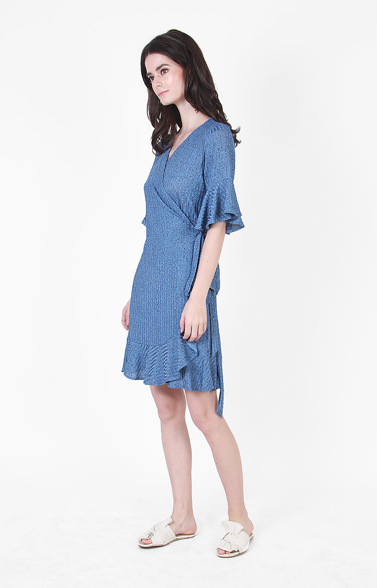 Sydney Wrap Dress in Blue