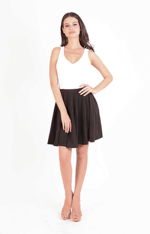 5575258690f Dina Dress in Black and White ...