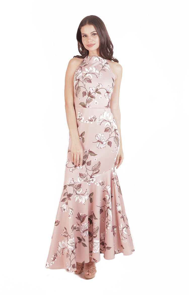 Kaycee Gown in Pink Floral