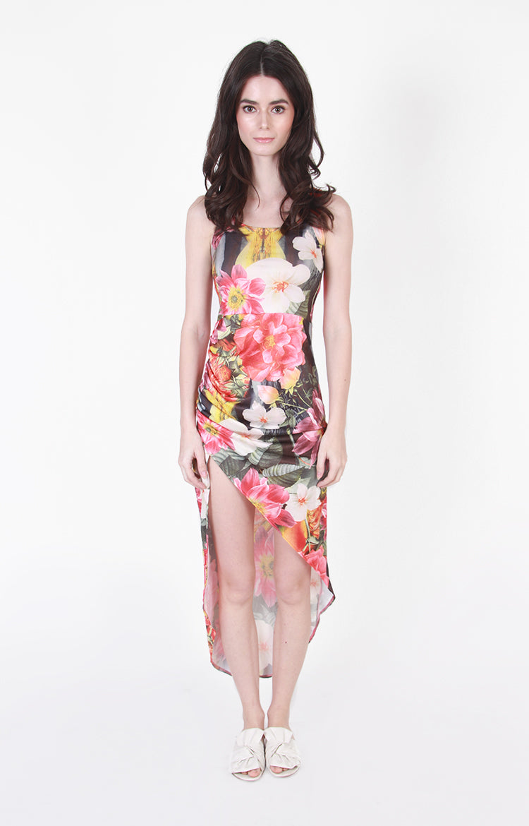 Veronica Asymetrical Maxi in Multi Floral