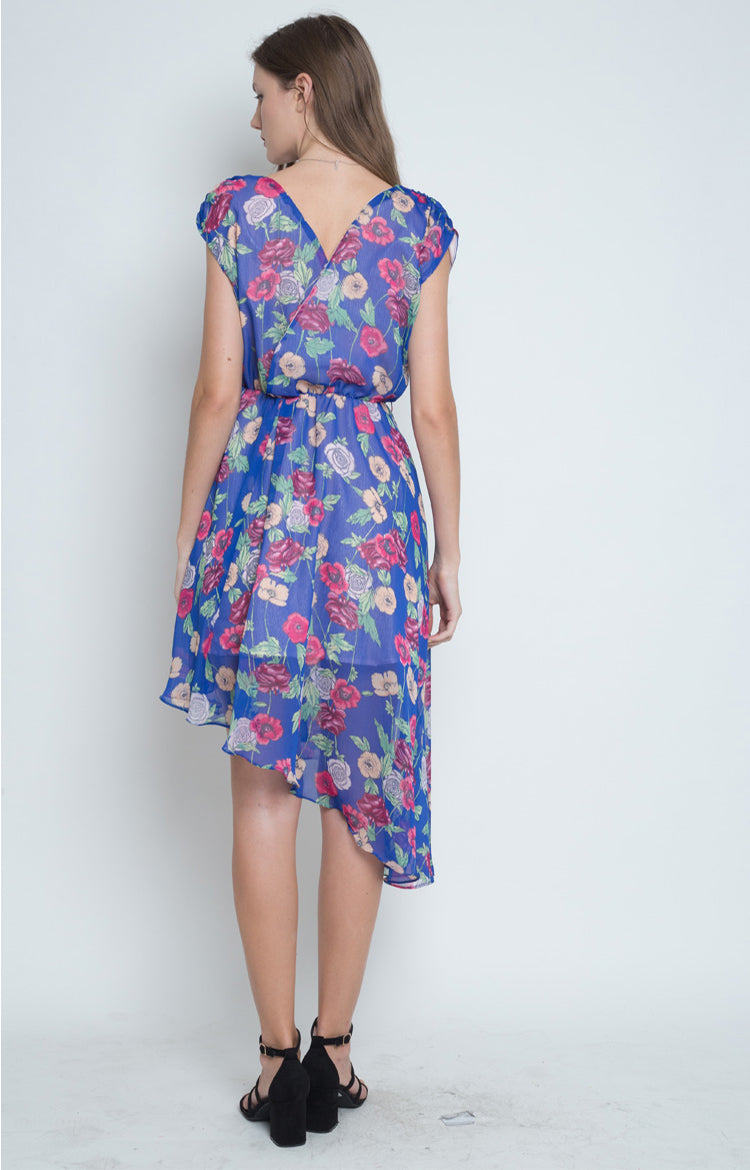 Jovina Asymmetrical Dress in Blue