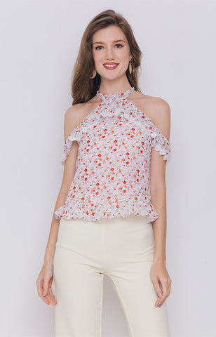 Maitea Cold Shoulder Top
