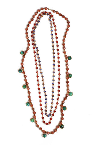 Malaya Necklace Set-Gold Sandstone