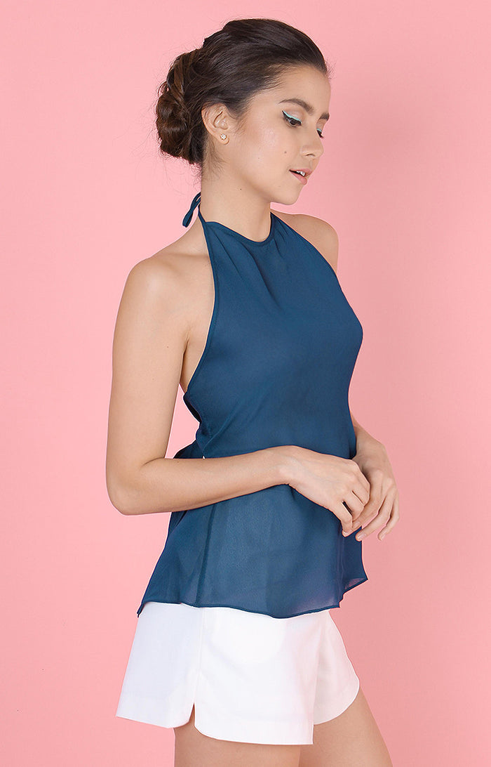 Backless Top-Navy
