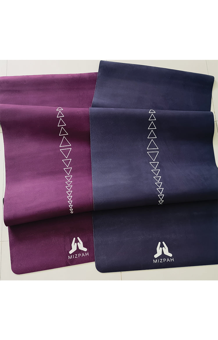 Suede Jewel Yoga Mat in Amethyst