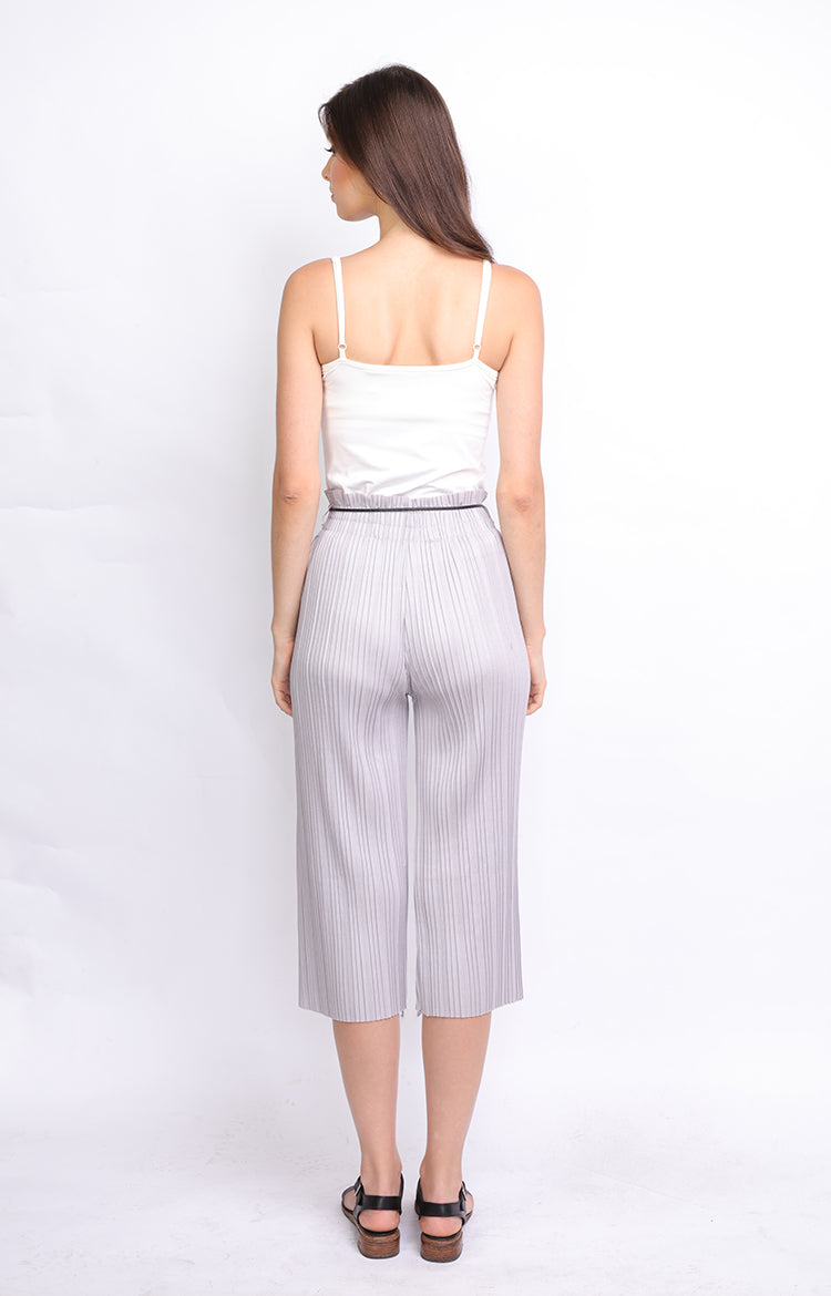 Gray Pleated Culottes