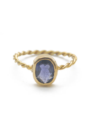 Panopio Stackable Ring - Dark Amethyst Oval