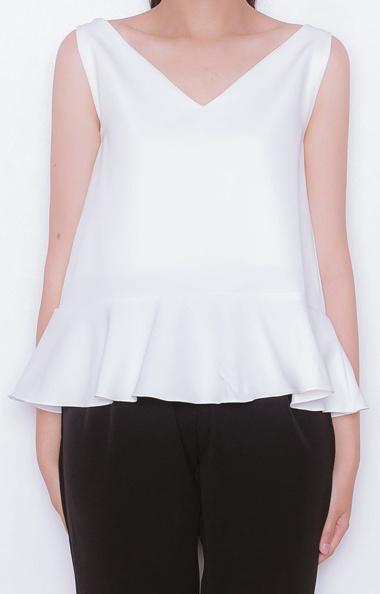 Momo Top in True White