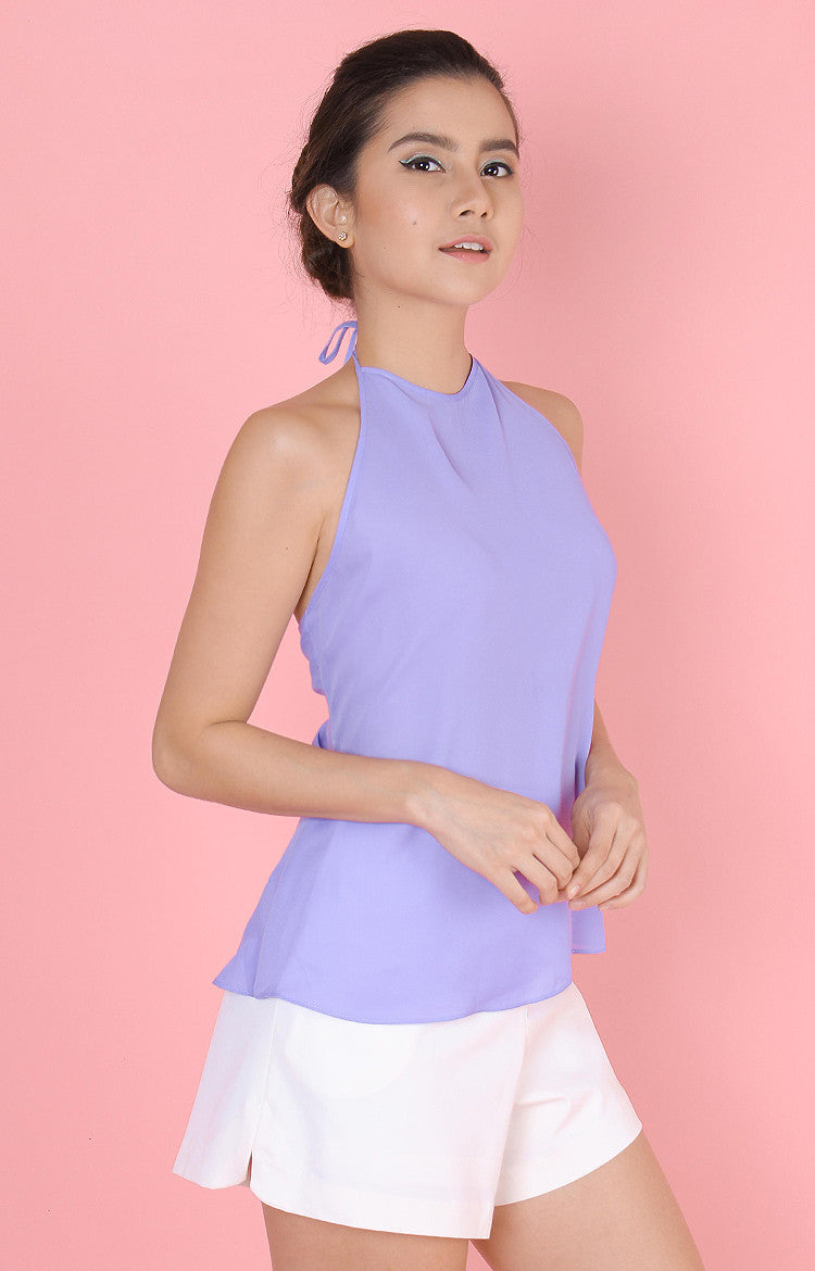Backless Top-Purple