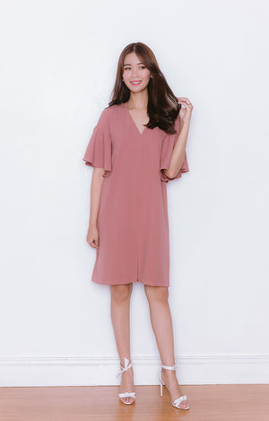 Nana Dress in Old Rose
