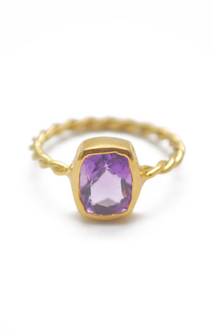 Panopio Stackable Ring - Amethyst Emerald