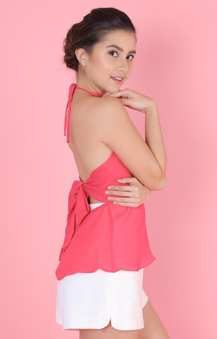 Backless Top-Pink