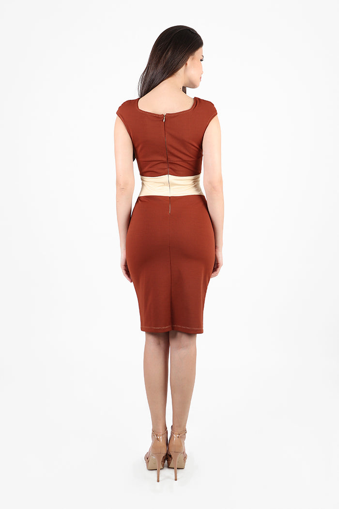 NYC Office Dress in Brown