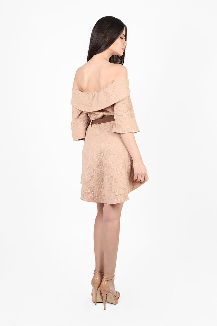 Moscow Trench Dress in Tan