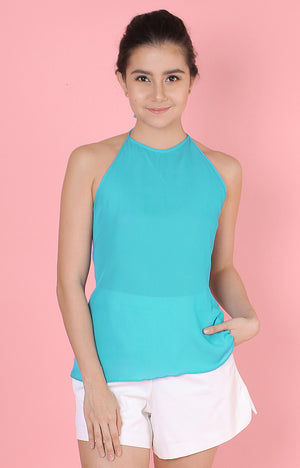 Backless Top-Turquoise