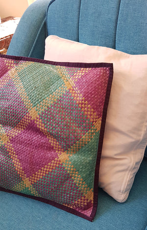 Tausug Cushion Cover - Multi Colored 19 x 19