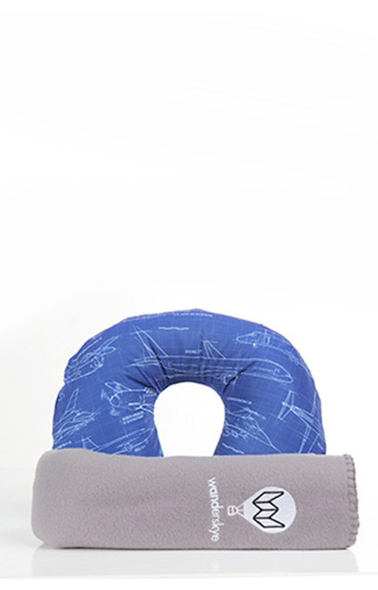 Airplanes Neck Pillow with blanket
