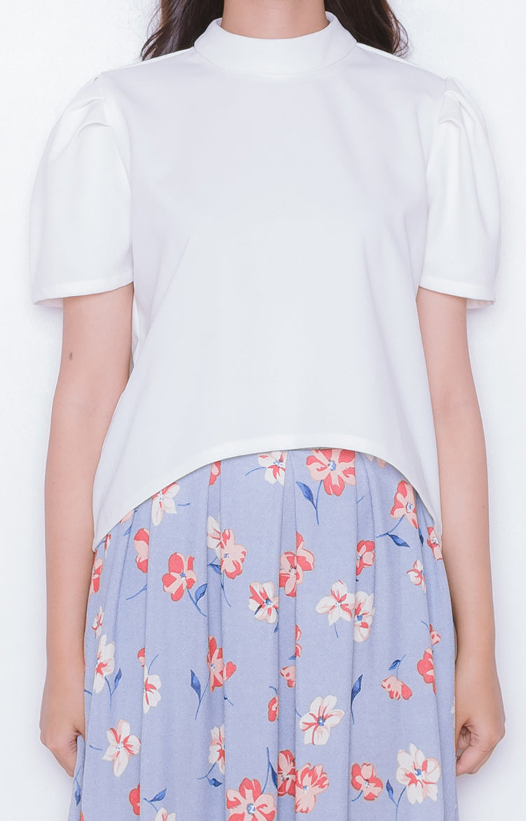 Sakura Top in True White