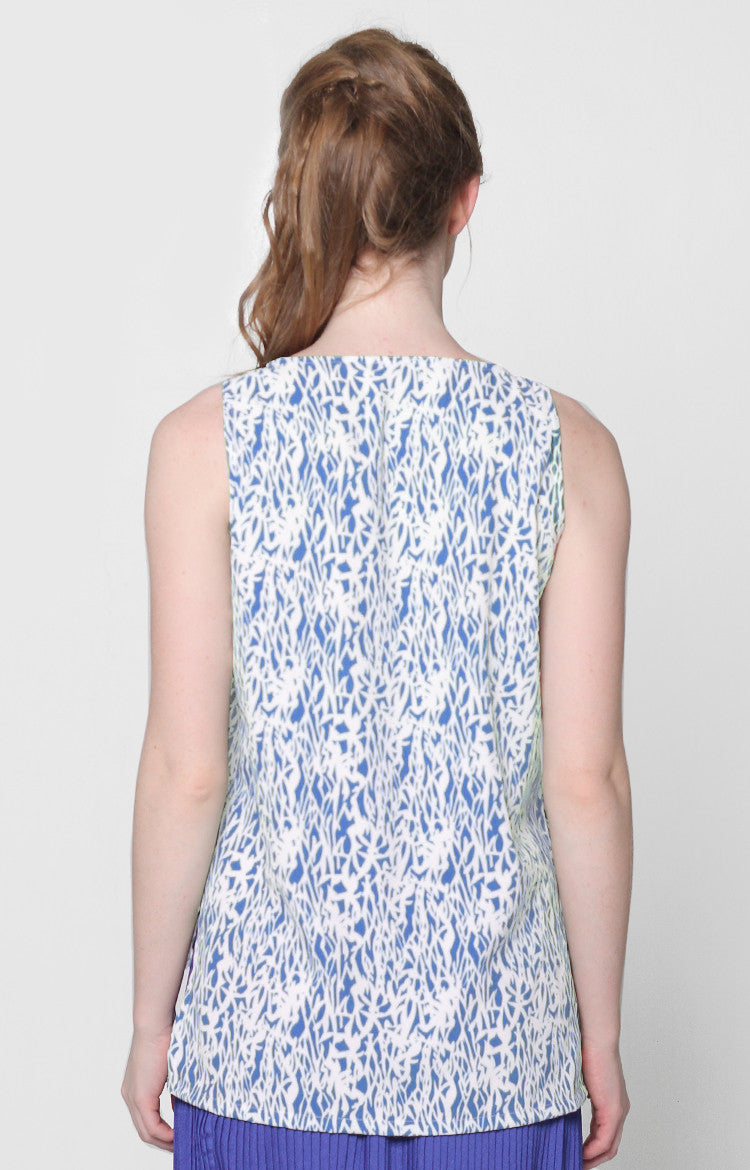 Isabelle Top- Blue Printed