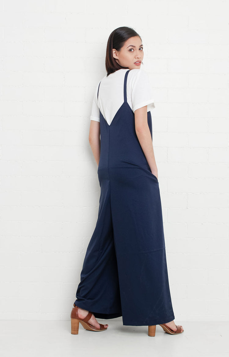 Spaghetti Strapped Jumpsuit in Blue