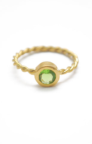 Panopio Stackable Ring - Peridot Round