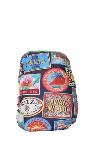 Travel Stamps Backpack Cover