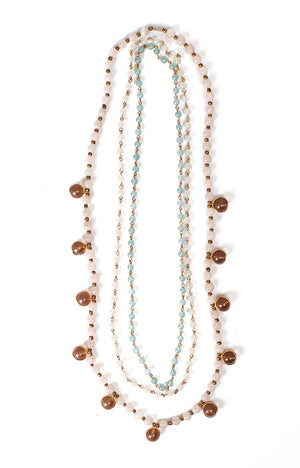 Malaya Necklace Set- Rose Quartz
