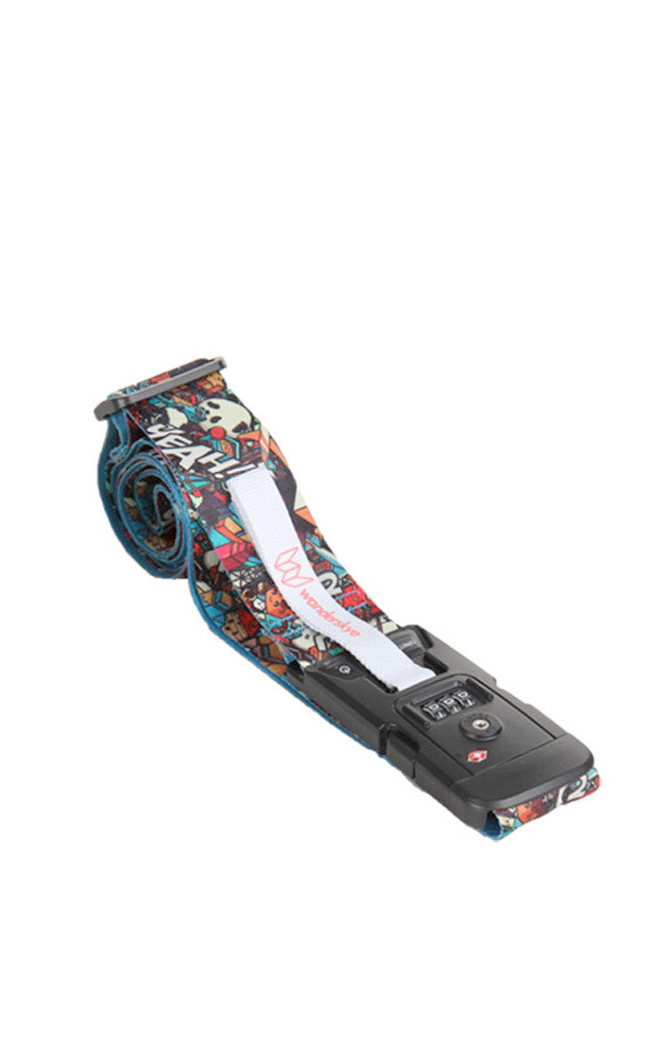 Graffiti Luggage Strap with Digital Weighing Scale