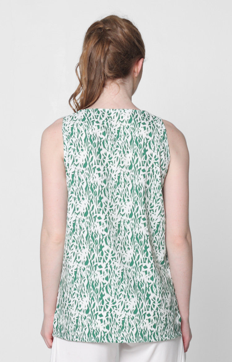 Isabelle Top- Green Printed