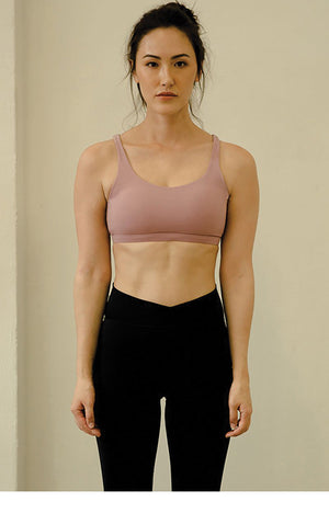 Jazz Up Performance Sports Bra in Ash Rose