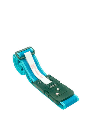 Plain Blue Luggage Strap with Digital Weighing Scale