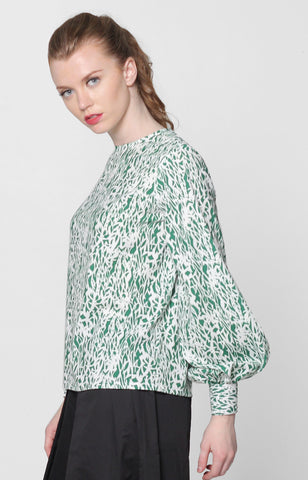Jessica Top- Green Printed