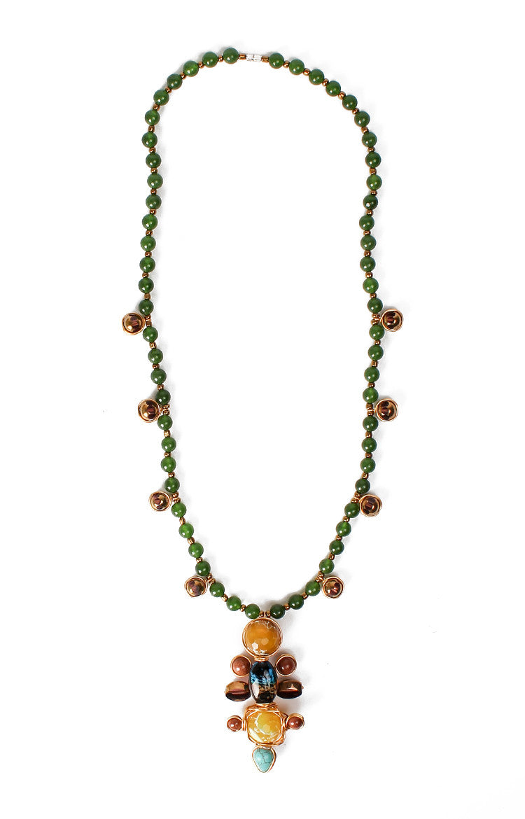 Ramayana Necklace- Agate