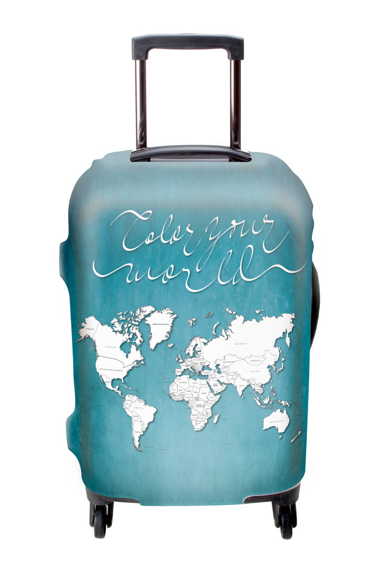 Color Your World Luggage Cover with Free Sharpie