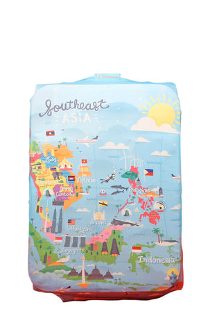 Explore Southeast Asia Luggage Cover