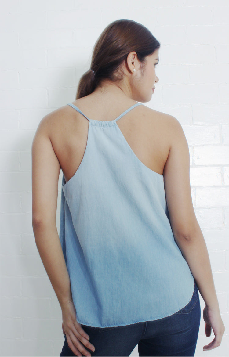 Chambray Camisole in Light Blue